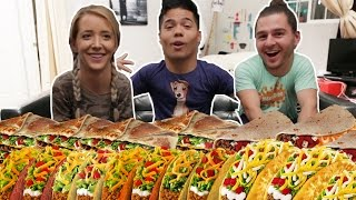 ENTIRE TACO BELL MENU IN 10 MIN! (ft. Julien & Jenna Marbles)