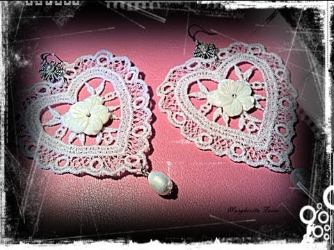 Video tutorial: Come inamidare e colorare il pizzo. Fare orecchini pizzo fashion lace jewels