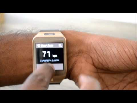 Samsung Gear 2 Heart Rate Monitor Demo