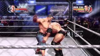 WWE All Stars John Cena Vs The Rock Steel Cage Match