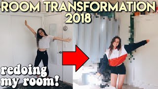 ROOM MAKEOVER 2018   redoing my room!
