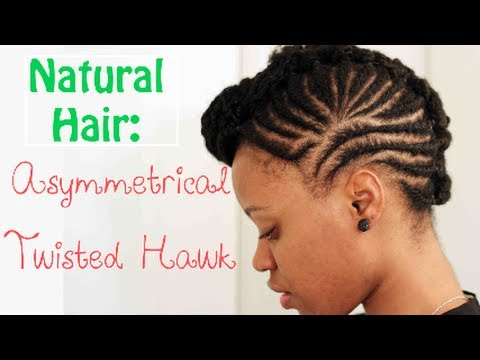 Video - [*123*] Short 4c Natural Hair styling Option: The FAUXHawk