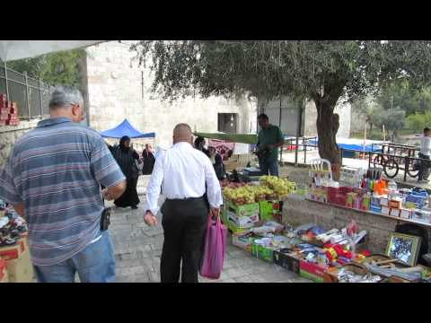 Jerusalem - The Market at the Damascus Gate area during the Muslim holiday - Eid al-Adha