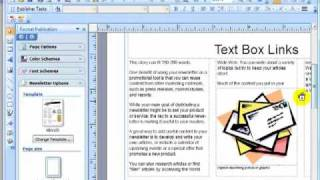 How To Create A Text Box Link MS Publisher 2007