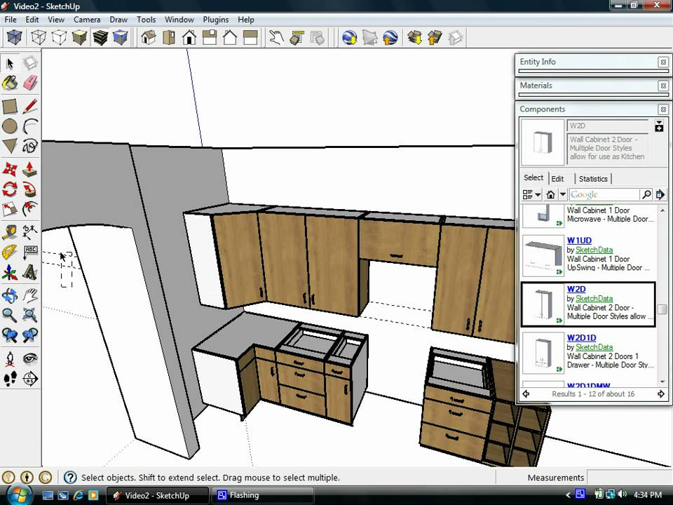 Sketchup plugins assist kitchen design using dynamic components youtube Kitchen design software google sketchup