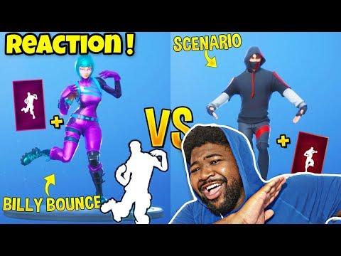 Billy Bounce Vs Scenario - Fortnite Funny Moments REACTION