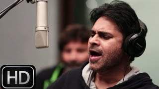 Power Star Pawan Kalyan singing Kaatam Rayudu Song - Attarintiki Daredi song Making