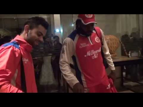Chris Gayle - Cake cutting for Gayle's 175 against pune - YouTube