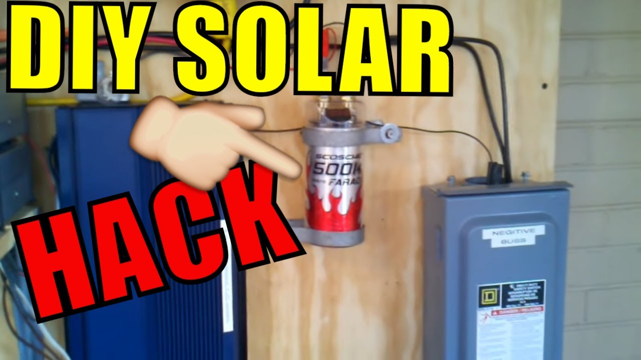 How To Wire The 500k Uf Capacitor Into Your Pv Solar Setup