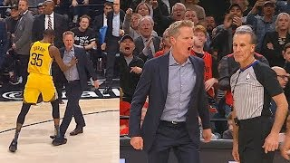 Kevin Durant Saves Refs From Steve Kerr Who Wanna Fight After Getting Furious Then Gets Ejected!