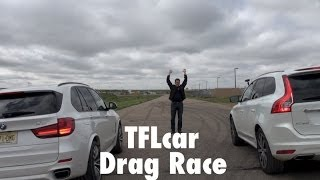 2014 BMW X5 Vs Volvo XC60 Mashup Drag Race: Super-Turbo Vs