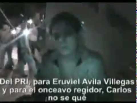 PRI REPARTE TINACOS EN ECATEPEC (video censurado por el PRI)