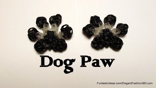 Rainbow Loom Dog/Cat/Pet Paw Print Charm How To
