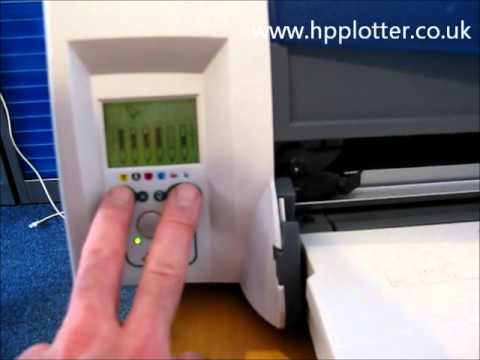 Designjet 120NR/130NR - Unload paper/media roll on your printer