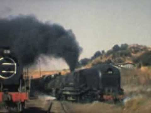 Rail Freight Haulage by Garratt GM Class near Breyton, Mpumalanga, South Africa 1975