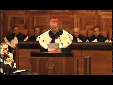 Laurea honoris causa al cardinal Carlo Maria Martini
