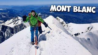 J'ESCALADE LE MONT BLANC (4810m d'altitude)