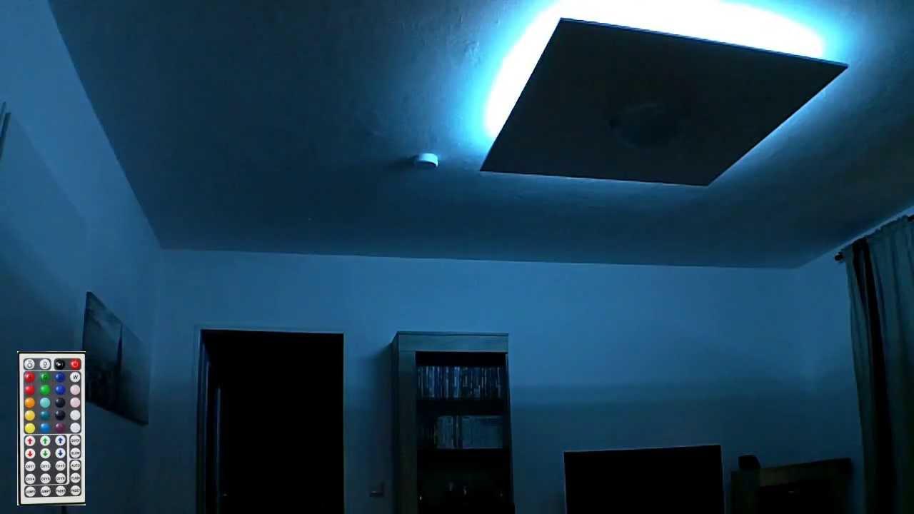 rgb led deckenlampe indirekte beleuchtung youtube. Black Bedroom Furniture Sets. Home Design Ideas