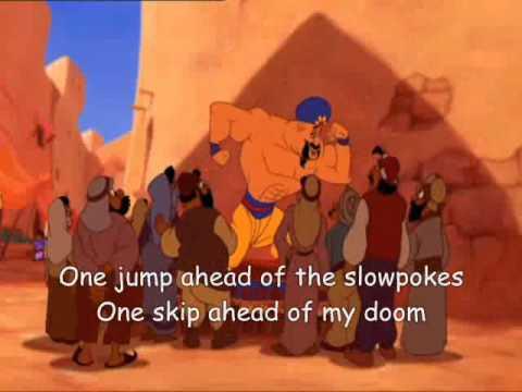 lyrics to aladdins one jump ahead youtube music