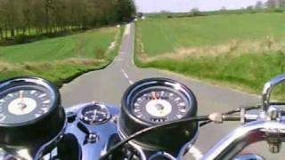 BSA Starfire 250 B25 Classic Motorcycle Riding Onboard