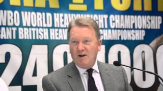 Billy Joe Saunders & Frank Warren Press Conference