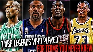 NBA LEGENDS Who Played On Teams You NEVER Knew