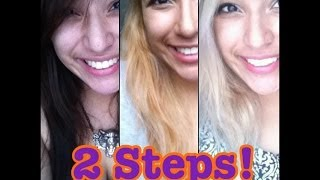 STEPS Dark brown to Blonde hair (light ash blonde)