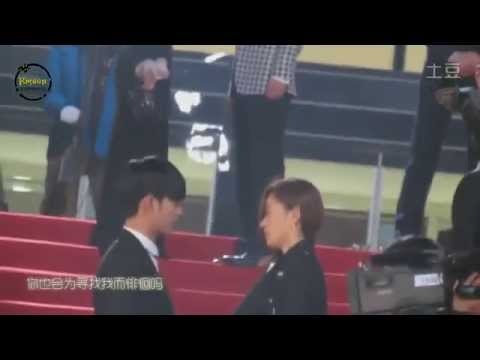 kim soo huyn kisses (man from the stars) behind the scenes