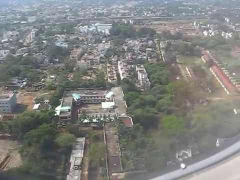 SpiceJet flight overflying Chennai city