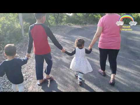 Cute Little Kids Walking, Running 😁 Funny (Kasauli-Jangeshu Paradise Road, Himachal)