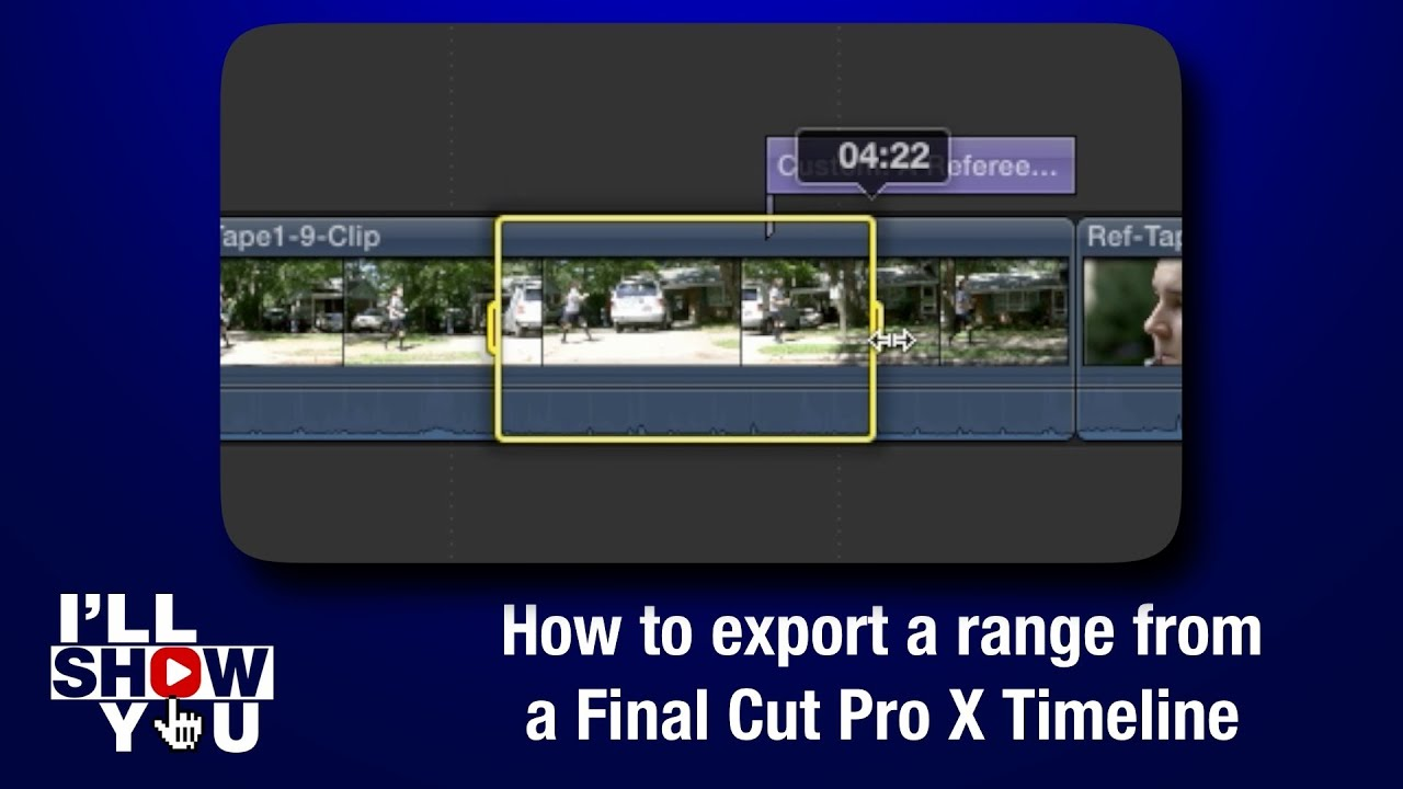 How to export a range from a Final Cut Pro X Timeline - YouTube