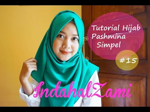 Tutorial Hijab Pashmina Simple (Pashmina Diamond Italiano #15 - indahalzami