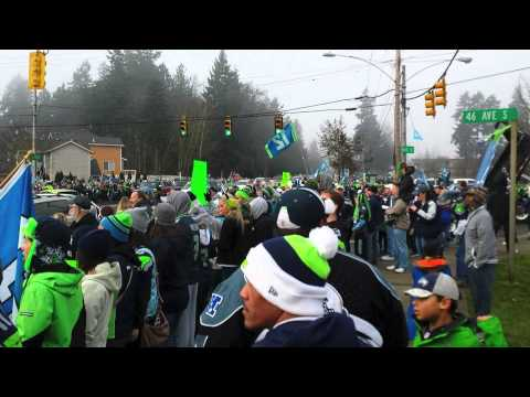 Seattle Seahawks Send Off from SeaTac, Washington for Super Bowl 2014 NFL Team Buses