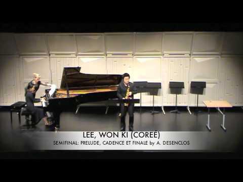 LEE, WON KI (COREÉ) Prelude Cadence et Finale DESENCLOS