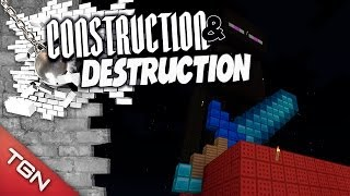 "ENDERMAN GIGANTE - ""CONSTRUCTION & DESTRUCTION"" ( Mega Construcciones en Minecraft )"