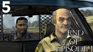 "The Walking Dead Episode 1 Part 5 ""Time To Run"" (Ending"