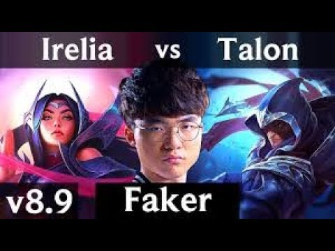 FAKER IRELIA MID VS TALON! REWORKED IRELIA IS JUST BUSTED!!! Faker's Stream Highlights (Translated)
