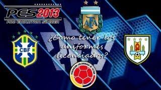 Uniformes De Argentina, Brasil, Uruguay Y Colombia Para