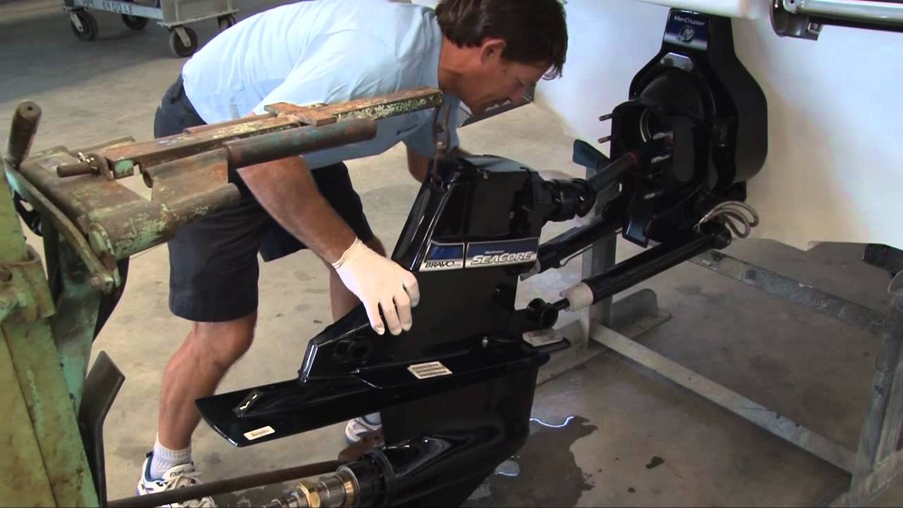 u tube video how to remove omc lower end inboard