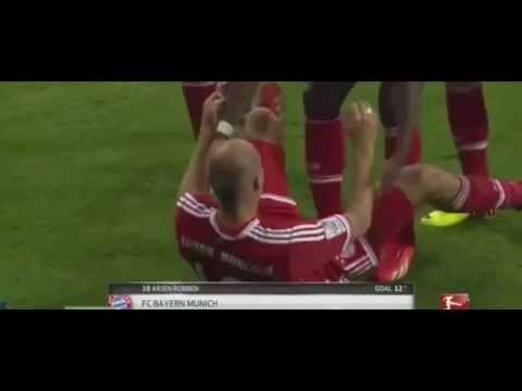ARJEN ROBBEN - Knee Slide Celebration Fail + Belly Bounce Fail!