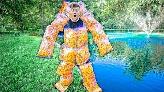 Can 10,000 FOAM DARTS Float A Person??