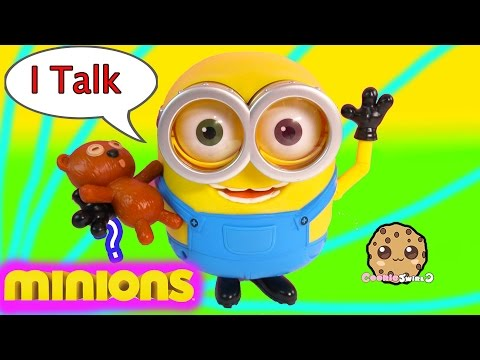 Talking Interactive BOB with Tim Teddy Bear From 2015 Minions Movie - Toy Review Video Cookieswirlc
