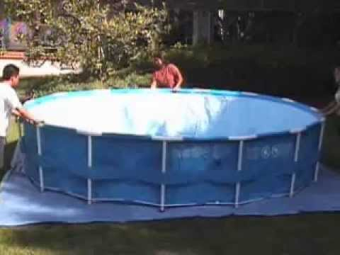 piscina intex metal frame youtube