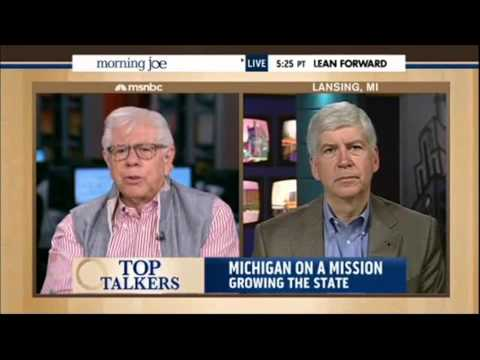 Michigan Gov. Rick Snyder on MSNBC's Morning Joe