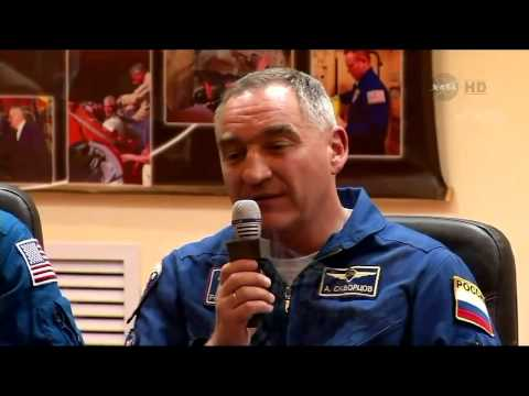 ISS Expedition 39/40 Pre Launch Crew News Conference in Baikonur Kazakhstan