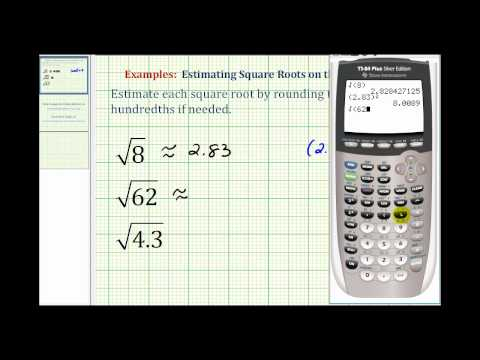 Estimating Square Roots with the Calculator