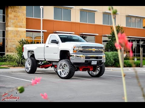 How West Texas does work trucks! 2014 Silverado Long Bed Single Cab on 10inch FTS lift 26x16 wheels