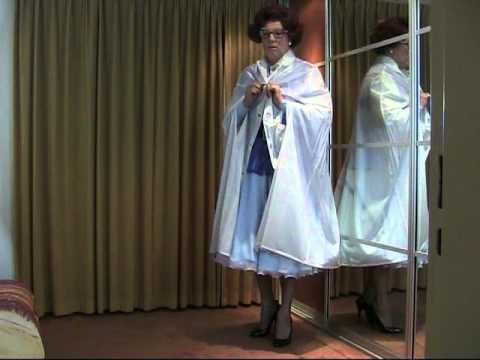 fifties style dress, with petti and cape.mp4 - YouTube