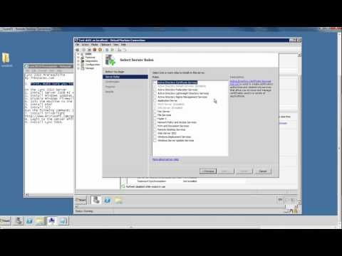1- Install and Configure Lync Server 2010 - Installing ADCS