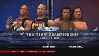 WWE 2K14 The New Age Outlaws Vs The Usos Elimination